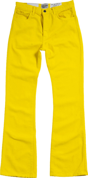 Gallery Dept Yellow Bootcut Jeans