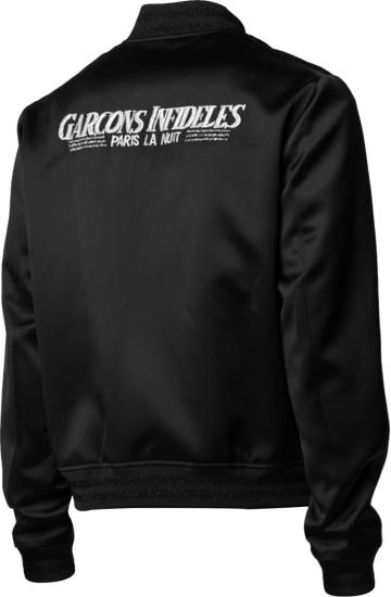 Garcons Infideles Black Paris La Nuit Bomber Jacket