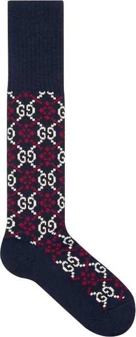 Gg Diamond Socks Side