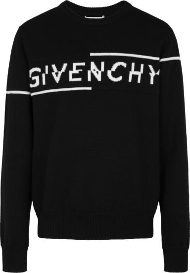 Givencby Black Split Logo Sweater