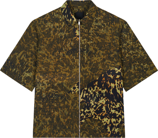 Givenchy 4g Camouflage Zip Shirt