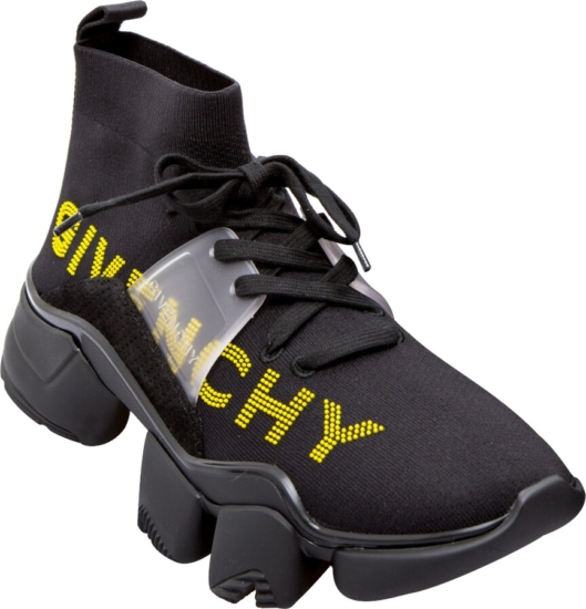 Givenchy Black & Yellow Jaw Sock Sneakers