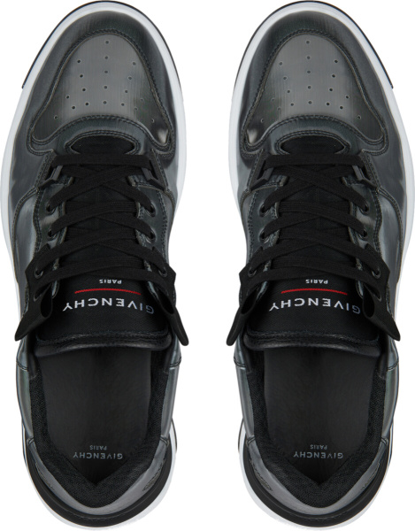 Givenchy Wing Low Sneakers In Holographic Canvas