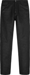 Givenchy Black 4g Monogram Coated Jeans