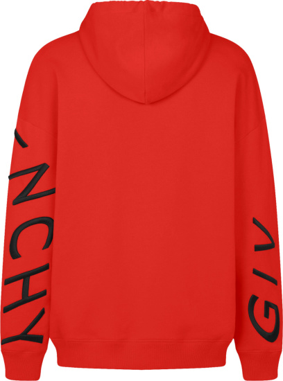 Givenchy Black And Red Refracted Logo Hoodie