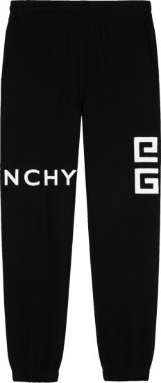 Givenchy Black And White 4g Logo Joggers Bm50wb3y6u 001