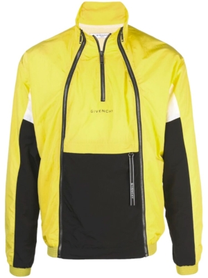 Givenchy Black And Yellow Anorak Jacket