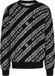 Black & White Diagonal Chain Sweater
