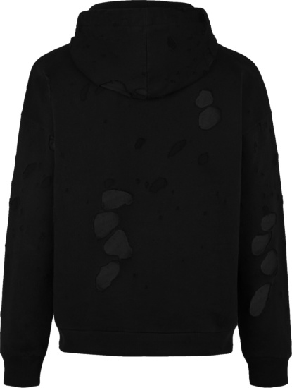 Givenchy Black Destroyed Hoodie