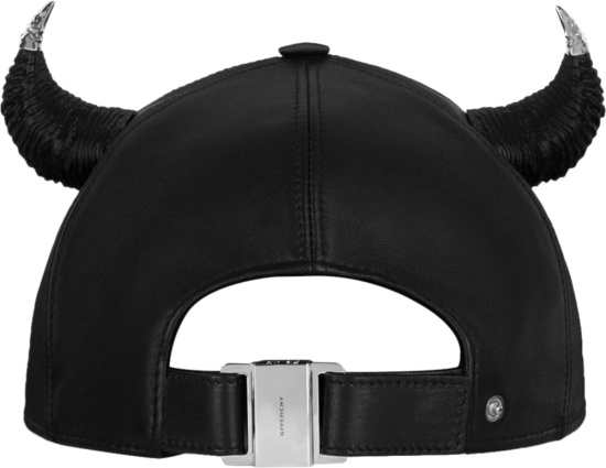 Givenchy Black Hat With Horns