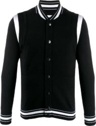 Black Knit Bomber Jacket