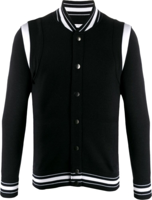 Givenchy Black Knit Bomber Jacket