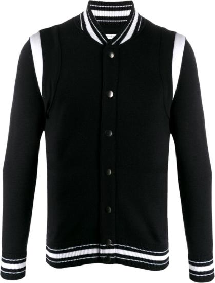 Givenchy Black Knit Bomber Jacket