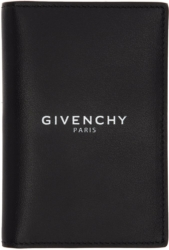 Givenchy Black Leather Passport Wallet