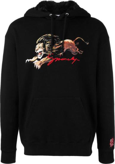 Givenchy Black Lio Logo Hoodie