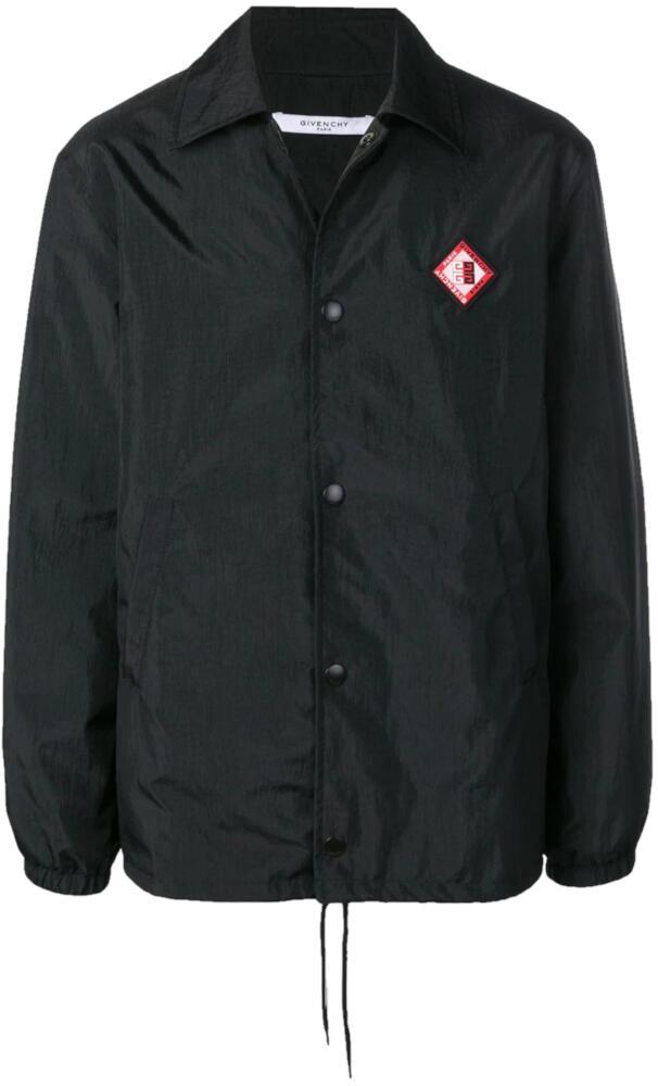 Givenchy Black Logo Patch Jacket