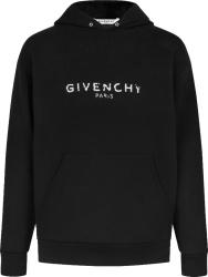 Givenchy Black Paris Logo Hoodie