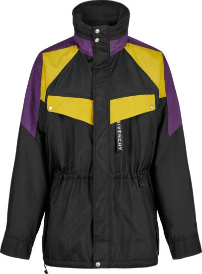 Givenchy Black Purple And Yellow Sailing Windbreaker Jacket