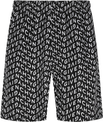 Givenchy Black Refracted Logo Swim Shorts