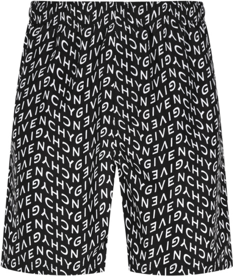 Givenchy Black Refracted Logo Swim Shorts