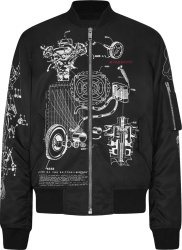 Givenchy Black Schematics Bomber Jacket