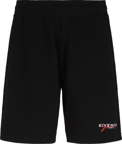 Givenchy Black Signature Shorts