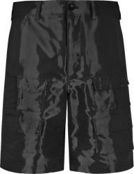 Givenchy Black Wet Effect Cargo Shorts