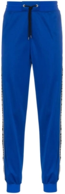 Givenchy Blue Trackpants With Black Logo Stripe