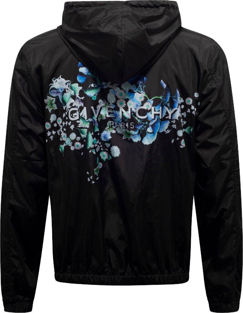 Givenchy Floral Logo Black Windbreaker