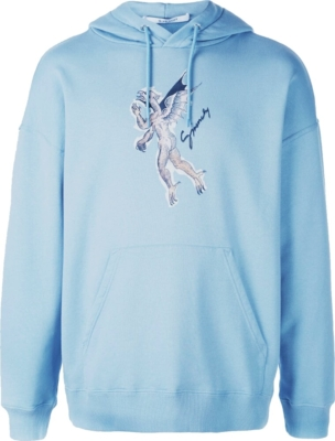 Givenchy Icarus Print Light Blue Hoodie