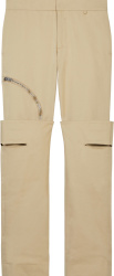 Givenchy Khaki Knee Flap Cargo Pants Bm50t813nl 270
