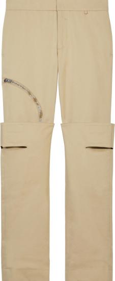 Givenchy Khaki Knee Flap Cargo Pants Bm50t813nl 270