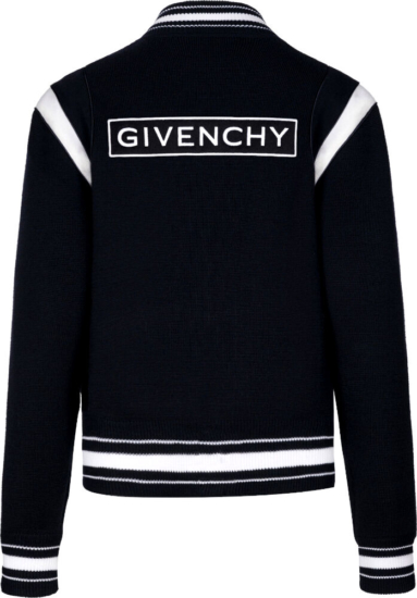Givenchy Logo Patch Black Bomber Jacket
