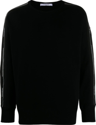 Givenchy Logo Stripe Black Sweatshirt