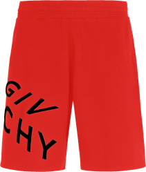 Givenchy Red And Black Refracted Shorts