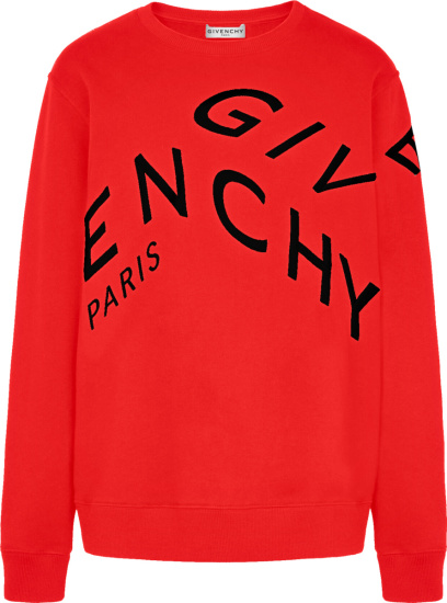 Givenchy Red Refracted Logo Sweatshirt