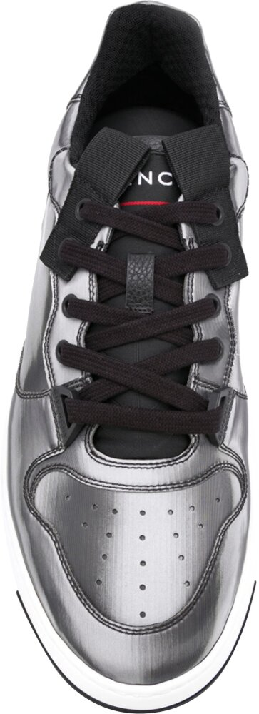 Givenchy Silver Metallic Sneakers