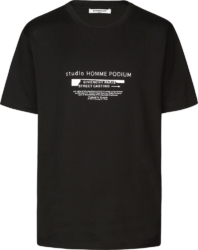 Givenchy 'studio Homme Podium' Print Black T Shirt