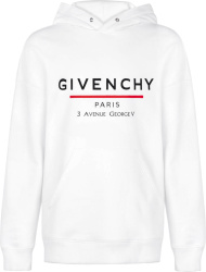 White Address Print Hoodie