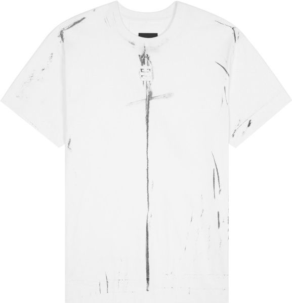 Givenchy White Creased Effect T Shirt