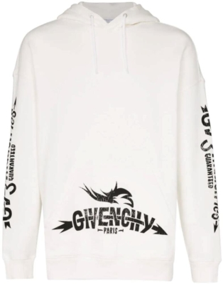 Givenchy White Tour Black Industries Printed Hoodie