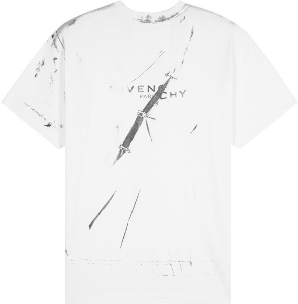Givenchy White Trompe L Ceil Effect T Shirt