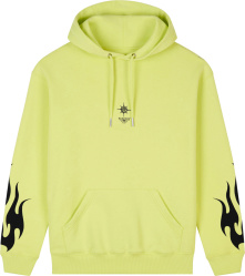 Givenchy Yellow And Black Flames Small Logo Hoodie