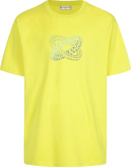 Givenchy Yellow Infinity Rings Print T Shirt
