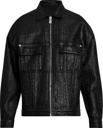 Givencny Black 4g Monogram Coated Jacket