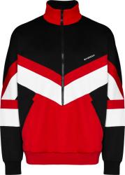 Givencny Black And Red Chevron Half Zip Track Jacket