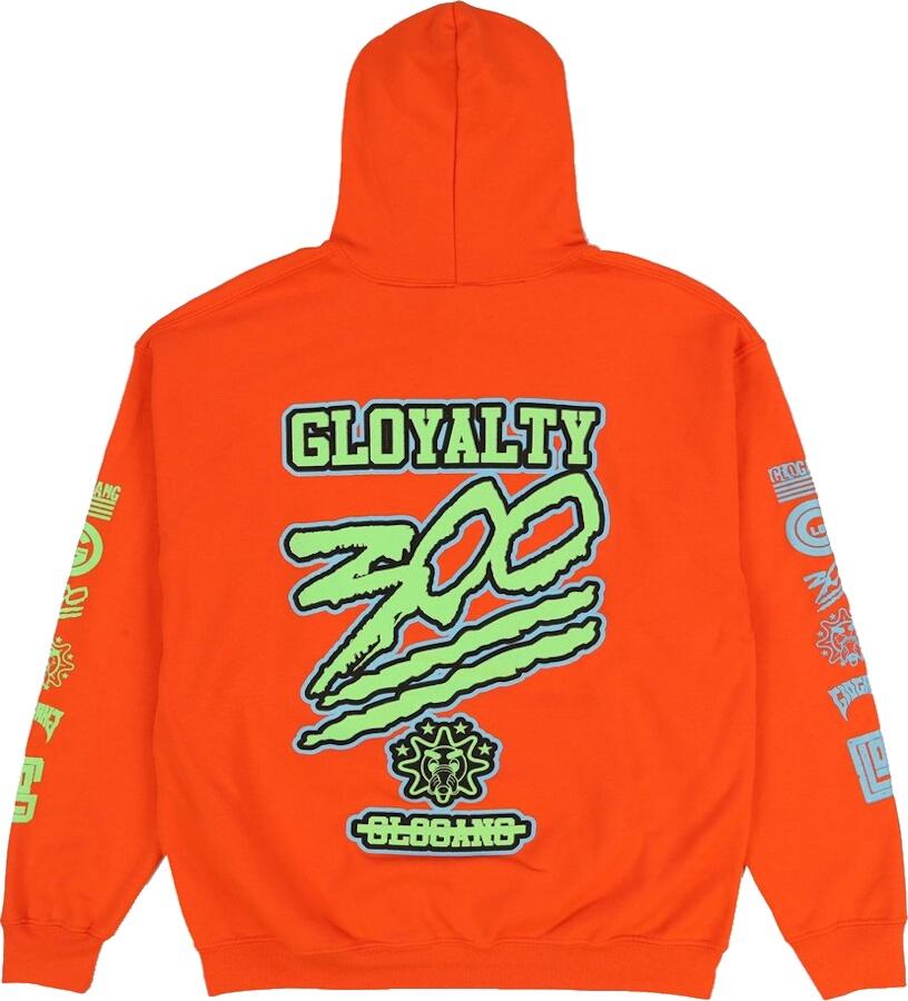 Glo Gang Gloyalty 300 Print Orange Hoodie