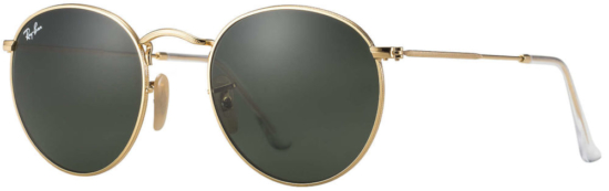 Gold Tone Round Metal Rayban Sunglasses Worn By Diddy