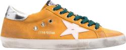 Golden Goose Yellow Distressed Super Star Sneakers