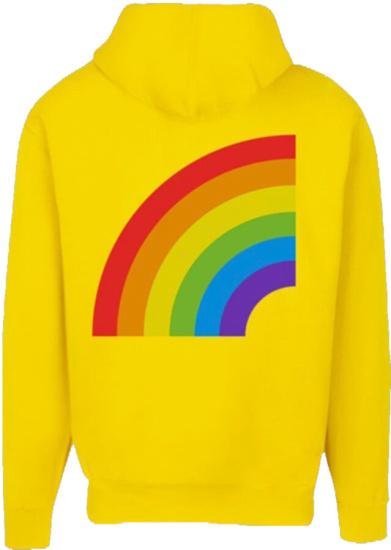 Gooba Yellow Hoodie Rainbow